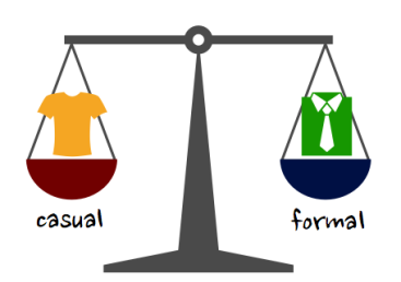 casual-formal balance