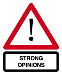 strong opinions sign